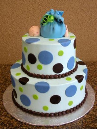 Picture of Baby Boy Shower Cake