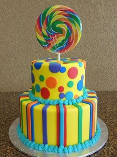 Picture of Candy Birthday Cake