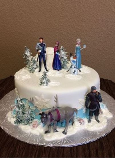 Picture of Disney Frozen Birthday Cake
