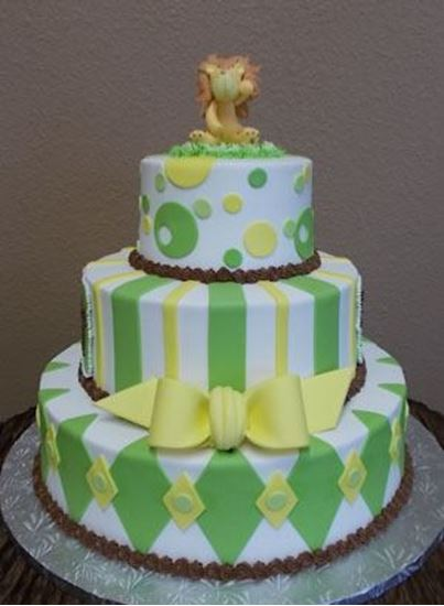 Picture of Lion Baby Shower Cake