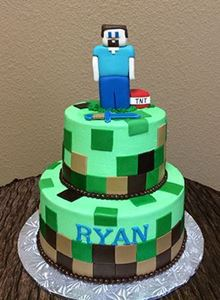Picture of Minecraft Birthday Cake