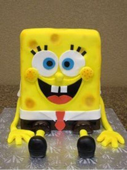 Picture of Sponge Bob 3-D Cake