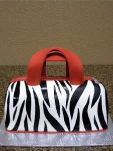 Picture of Zebra Handbag Cake