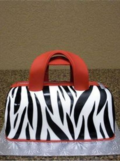 Picture of Zebra Handbag Cake