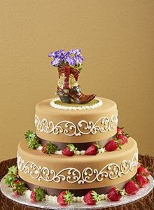 Picture of Western Boot Theme Wedding Cake