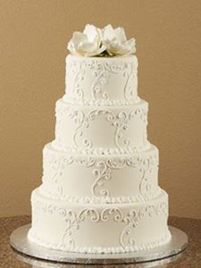 Picture of Sugar Magnolia Scrolled Wedding Cake