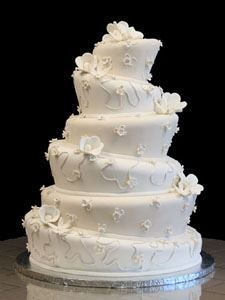 Picture of Ivory & White Whimsical Wedding Cake