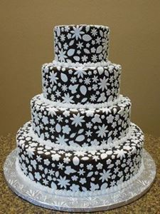 Picture of Chocolate Ganache Wedding Cake