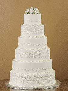 Picture of Traditional Scrolls & Roses Wedding Cake