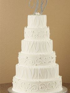 Picture of Zebra Stripes & Scrolls Wedding Cake