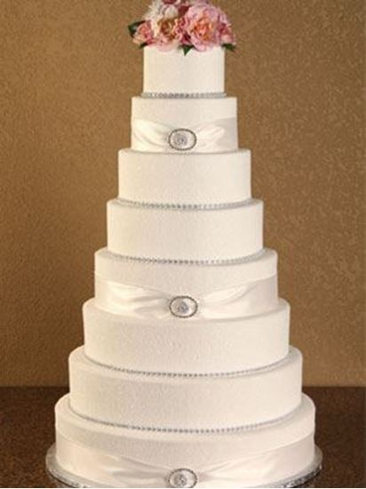 Picture of Sugar Glitter Rhinestone Wedding Cake