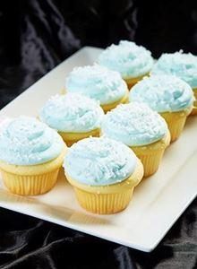 Picture of 1 Dozen Blue Coconut Cupcakes