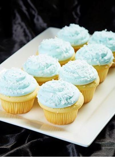 Picture of 1 Dozen Blue Coconut Cupcakes