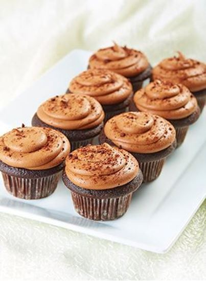 Picture of 1 Dozen Choc Devils Food Cupcakes
