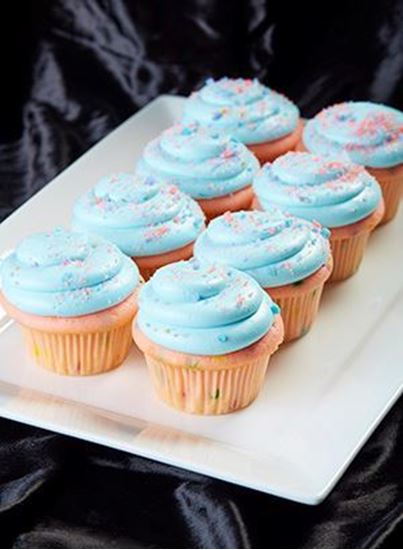 Picture of 1 Dozen Cotton Candy Cupcakes