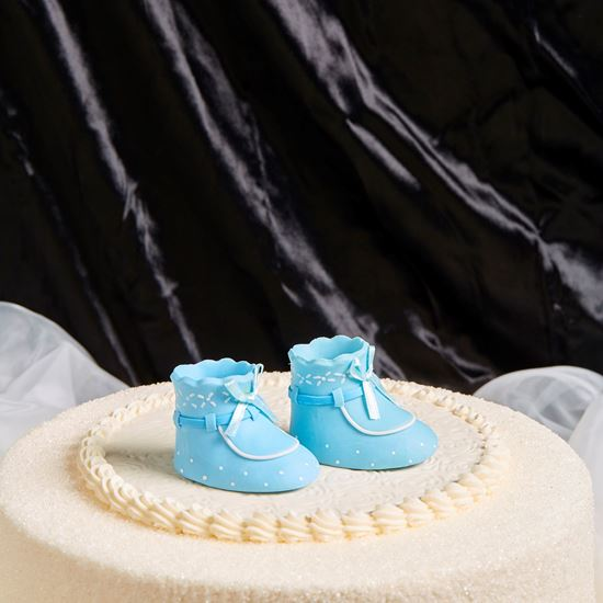 Picture of Baby Booties Cake Topper - Blue