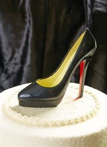 Picture of X Large Black High Heel Shoe Cake Topper