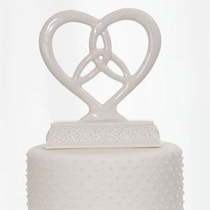 Picture of Heart Framed Trinity Knot Cake Topper