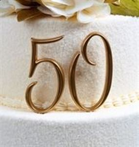 Picture of Number 50 Cake Topper - Gold