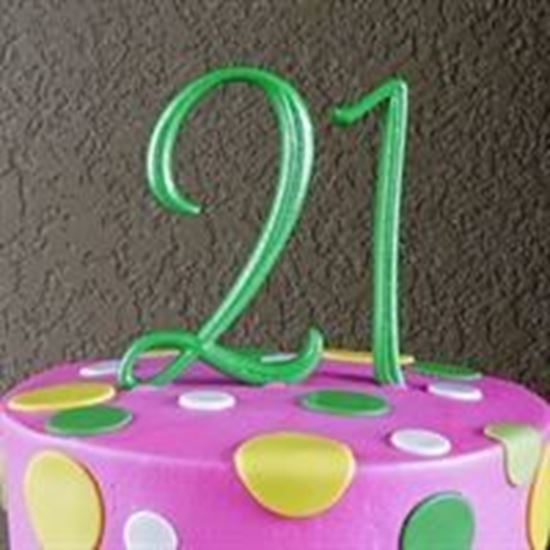 Picture of Number Cake Topper - Green