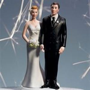 Picture of Comical Bride & Groom Cake Topper