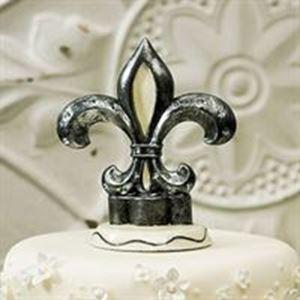 Picture of Fleur De Lis Wedding Cake Topper