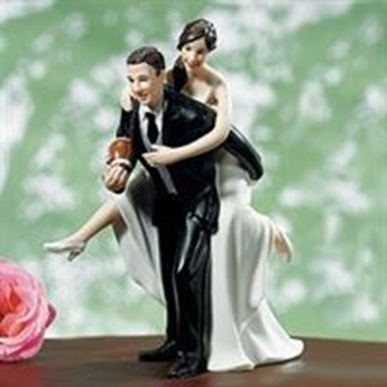 Picture of Football Fans Wedding Cake Topper