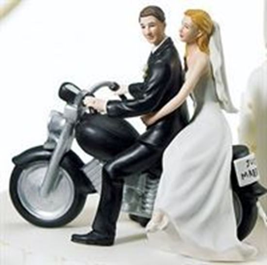 Picture of Motorcycle Wedding Cake Topper