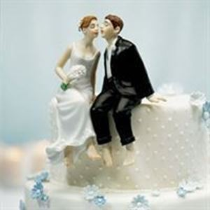 Picture of Sitting Bride & Groom Wedding Cake Topper