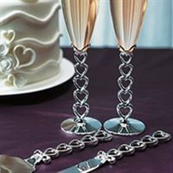 Picture of Stacked Hearts Cake Serving Set
