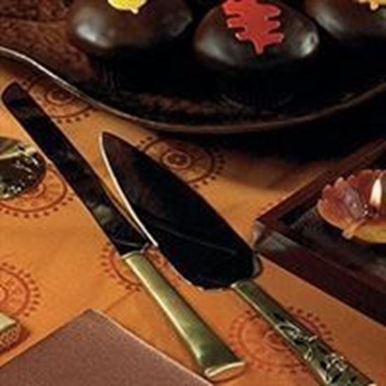 Picture of Venice Gold Cake Serving Set