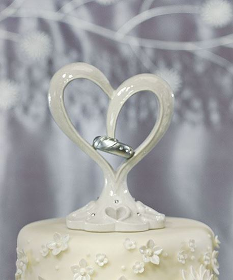 Picture of Stylized Heart Cake Topper