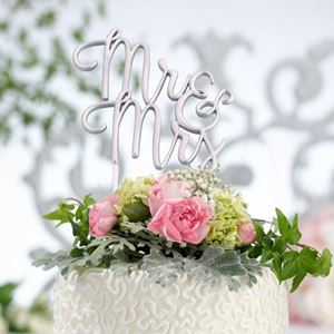 Picture of Mr & Mrs Cake Topper - Silver