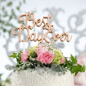 Picture of Best Day Ever Cake Topper - Gold