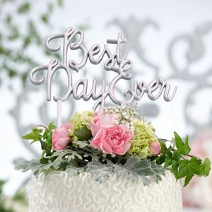Picture of Best Day Ever Cake Topper - Silver