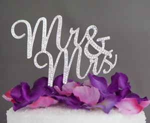 Picture of Mr & Mrs Rhinestone Cake Topper