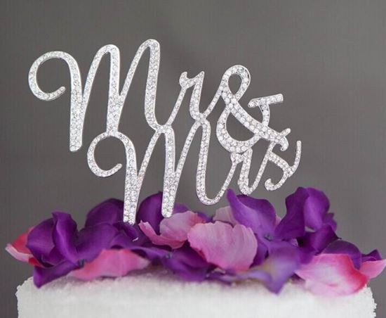 Picture of Mr & Mrs Rhinestone Cake Topper