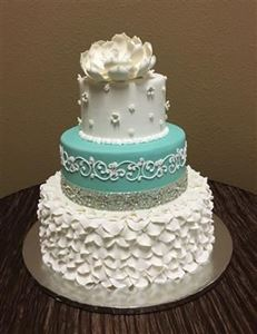 Picture of Rhinestone & Petals Wedding Cake