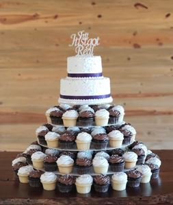 Picture of Tiered Wedding Cupcake Tower