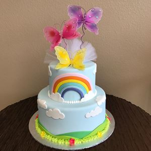 Picture of Rainbow & Butterfly Cake
