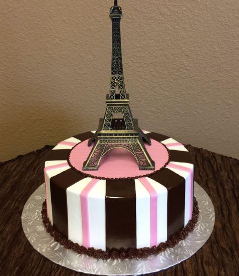 Superb Elegant Cakery Eiffel Tower Cake Pink Birthday Cards Printable Giouspongecafe Filternl