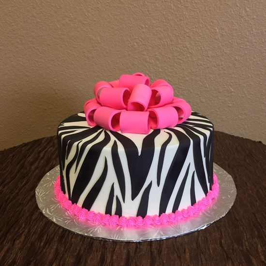 Picture of Zebra Print Cake