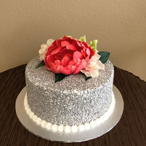 Picture of Silver Sequins Cake