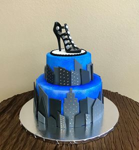 Picture of City Girl Birthday Cake