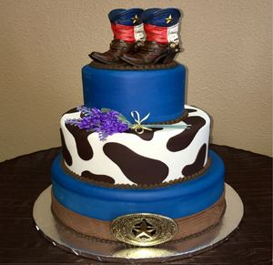Picture of TX Cowboy Theme Cake
