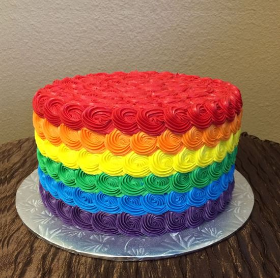 Picture of Rainbow Rosette Cake