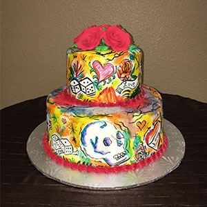 Picture of Tattoo Hand Painted Cake