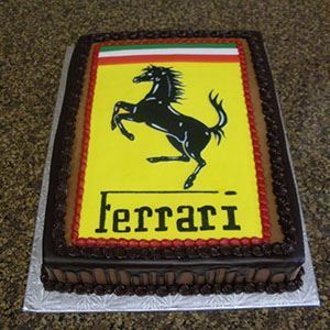 Picture of Ferrari Logo Cake