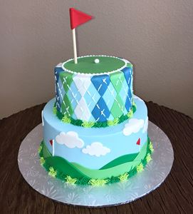 Picture of Golf Theme Birthday Cake