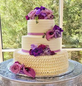 Picture of Buttercream Ruffle Wedding Cake